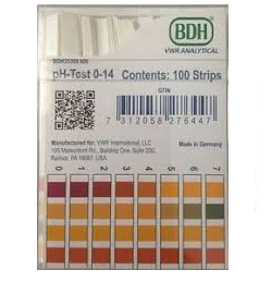 BDH 35310.607 pH Test Strips, 7.0-14.0, 500/PK
