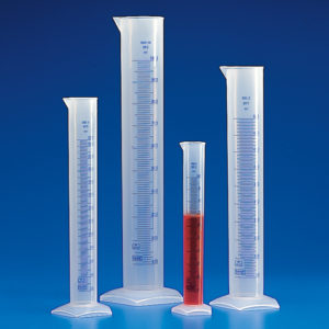 Globe Scientific 602564 Graduated cylinder, 250mL, PP 12/CS
