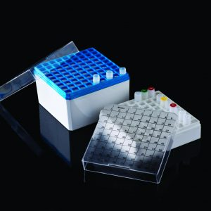 United Scientific P20602 CRYO STORAGE BOX, FOR 1.0 & 1.8ML VIALS, 81 PLACES 4/PK